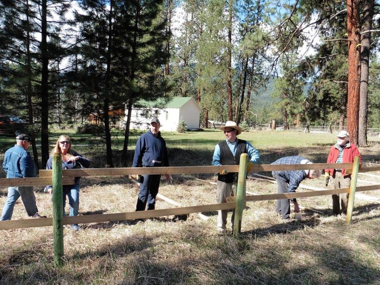 Grounds improvements at the Nine Mile Community Center