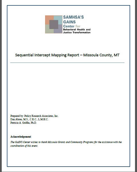 Sequential Intercept Mapping Report