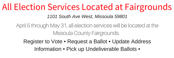 All Election Services Located at Fairgrounds