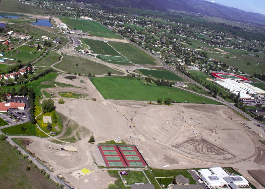Overhead View - Phase 2 - facing West