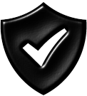 Shield with a check mark inside Image