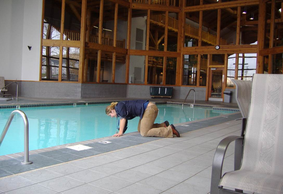 Pool and Spa being inspected by the Missoula City-County Health Department