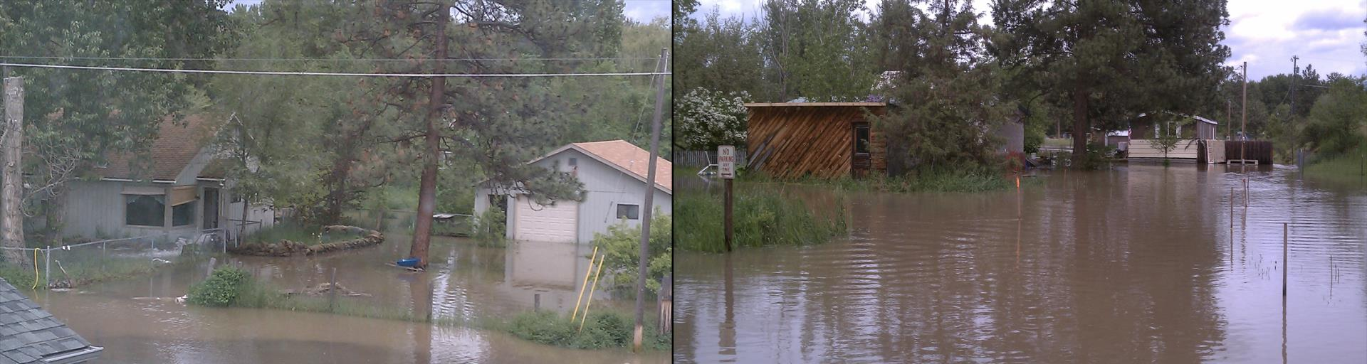 Residences flooded within Missoula County from 2011.