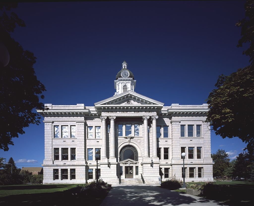 Missoula County Courthouse with Blue Sky