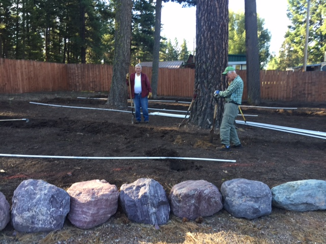 Site improvements at Sullivan Community Hall in Seeley Lake