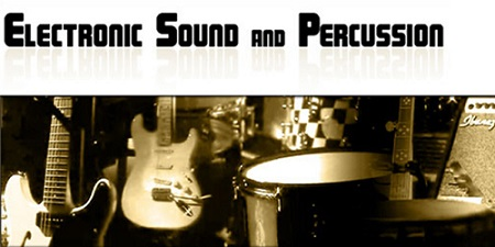 electronic sound and percussion logo