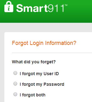 Smart911 forgot password