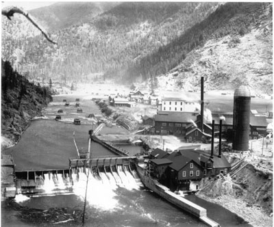 Stimson dam photo from early years of use.