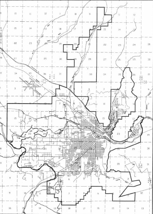 Figure 1.1.2.1-1 Missoula High Impact Zone Map