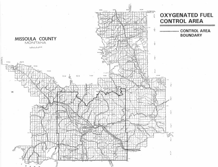 Figure 1.1.3-1 Missoula Oxygenated Fuel Control Area Map
