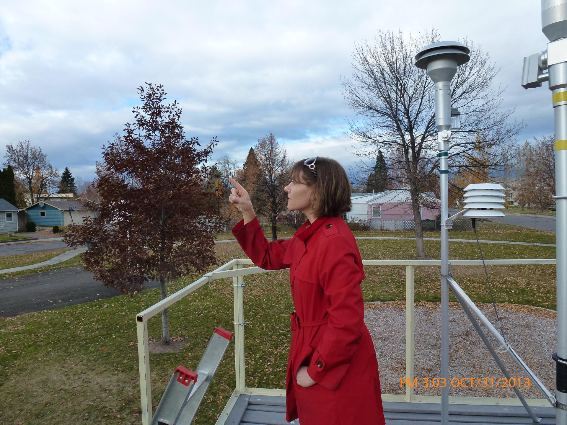Air Quality Specialist Sarah Coefield takes a good look at the air